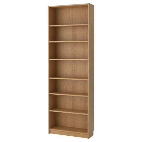 idea bookshelves billy bookcase oak veneer 80x237x28 cm ikea