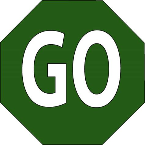 Stop And Go Signs Clipart - Clipart Suggest Go Sign Clip Art