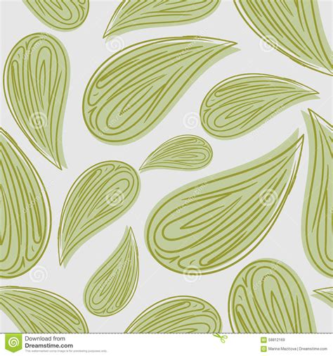 abstract leaf pattern abstract seamless pattern green leaves vector background