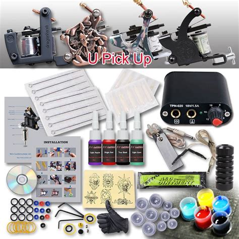 tattoo kit low price beginner tattoo kit 1 machine 4 inks 424