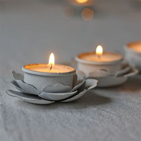 tea light holder set of three flower tea light holders by the wedding of my