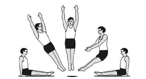 Overhead Bed fundamental trampoline skills part 3 series of drops
