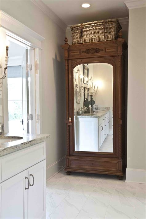 bathroom armoire antique armoire turned linen closet cedar hill farmhouse