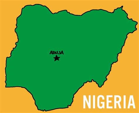 Nigerian Home Decor by Capital City In Nigeria Africa Map