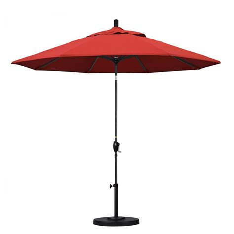 9 Ft Patio Umbrella Hton Bay 9 Ft Aluminum Patio Umbrella In Quarry With Push Button Tilt 9900 01004300