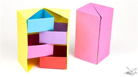 Origami Secret - origami secret stepper box tutorial paper kawaii