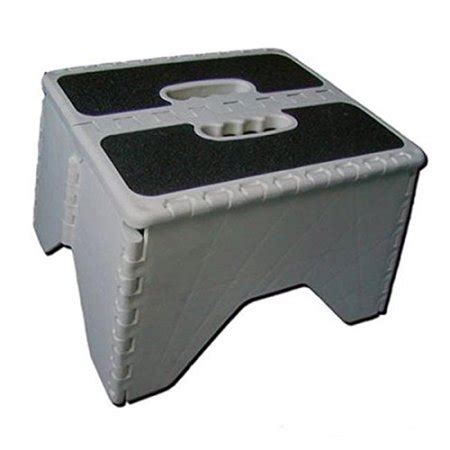Camco Folding Step Stool by Camco 43635 Plastic Folding Step Stool With Non Skid