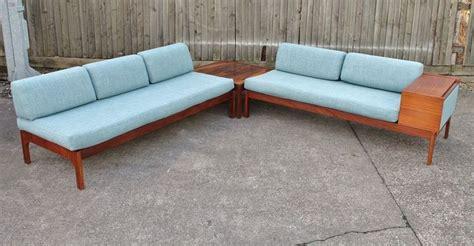 retro corner sofa vintage teak corner sofa day bed rosewood table suite