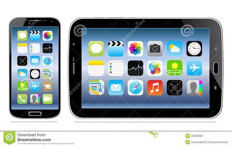 imágenes cristianas mobile tablet en mobiele telefoon met pictogram op het scherm