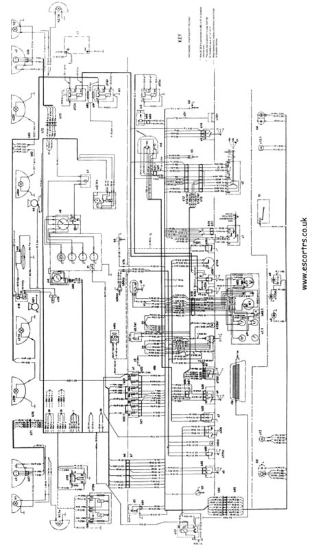 mk1 rs 2000 wiring diagram full set mk1 escort avo ebay