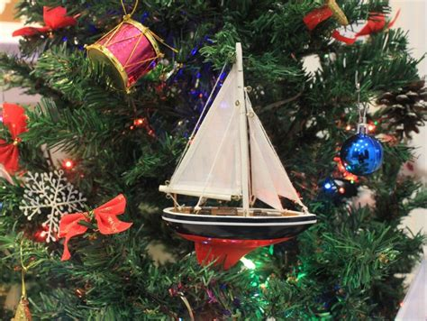 buy american sailboat christmas tree ornament 9 inch