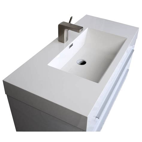 35 5 in wall mount modern bathroom vanity in high gloss