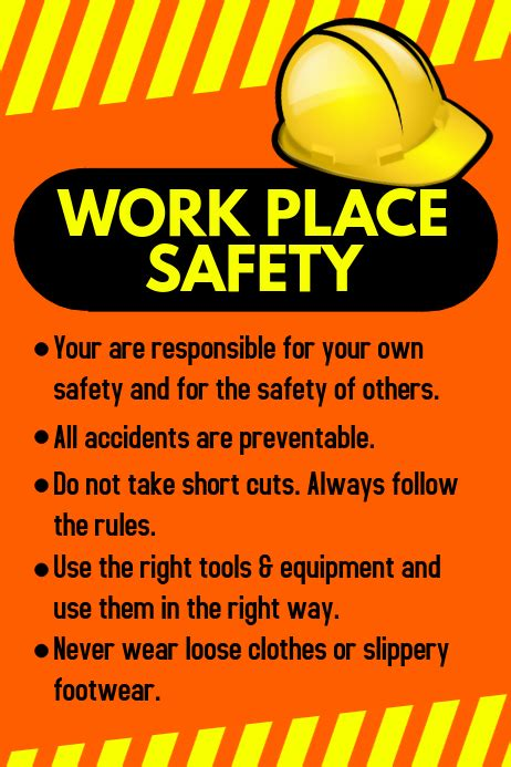 copy  workplace safety poster postermywall