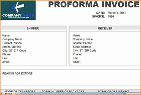 Proforma Invoice And Letter Of Credit 5 Proforma Invoice Template Invoice Template