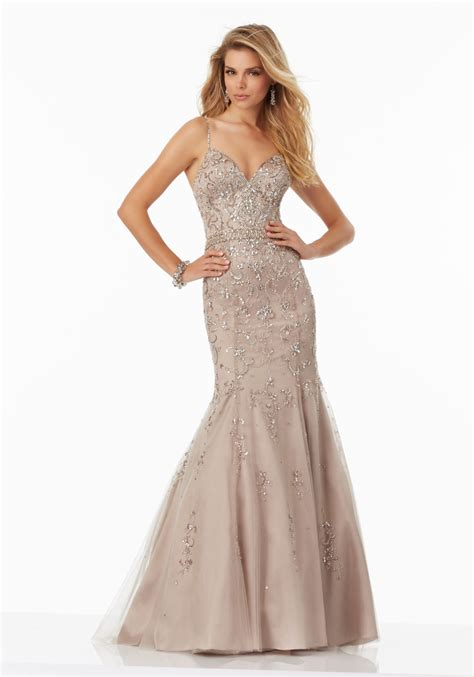 beaded prom dress beaded net prom dress with v neckline and open back
