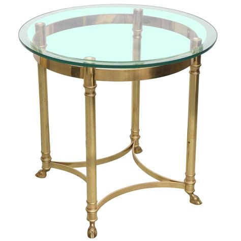 glass and brass end tables la barge brass and glass end table 1970 at 1stdibs