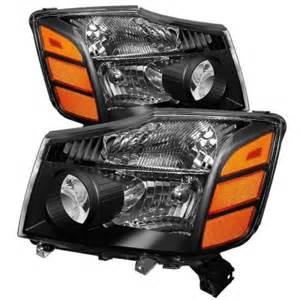 Nissan Titan Headlights Nissan Titan 2004 2013 Black Headlights A103t4fk102