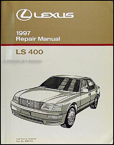 manual repair autos 2010 lexus rx transmission control 1997 lexus ls 400 repair shop manual original
