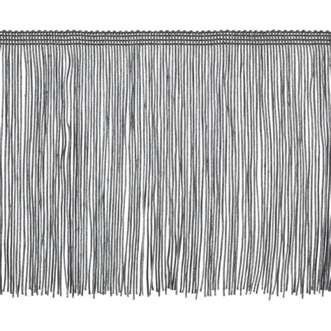 upholstery fringe 6 quot chainette fringe trim pewter discount designer fabric