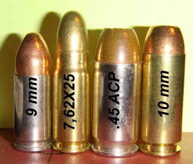 9mm 7 62x25mm 45 acp 10mm ammo
