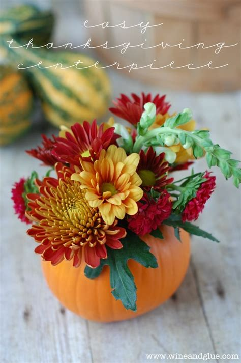 easy to centerpieces for thanksgiving table diy thanksgiving centerpiece wine glue