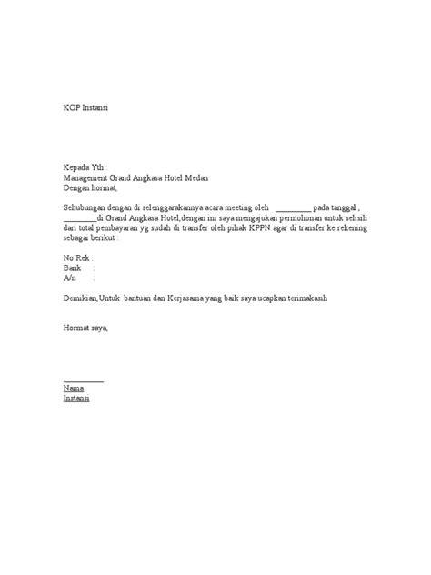 contoh surat refund