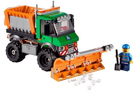 lego 60083 snow plow truck i brick city