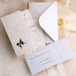 wedding invitations ivory butterfly deco tri fold affordable
