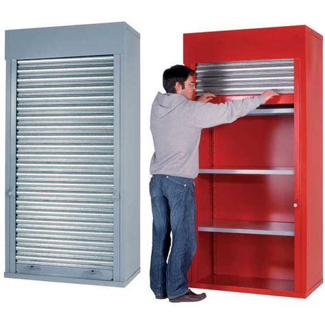 Roller Door Storage Cabinets Heavy Duty Roller Shutter Cabinets 2m H X 1m W X 500mm D Ese Direct