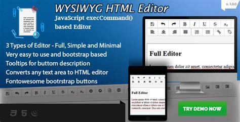 javascript tutorial rich text editor wysiwyg html editor bootstrap based rich text editor