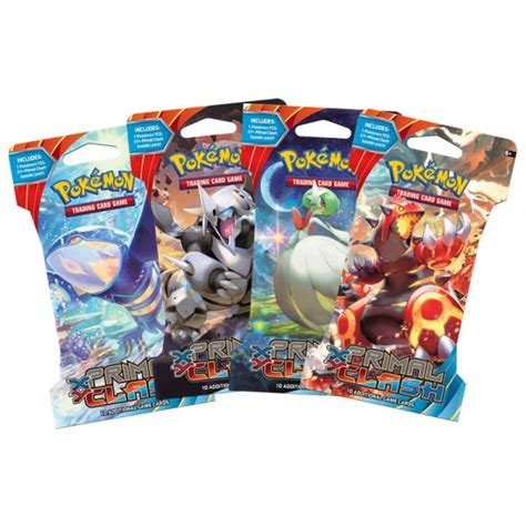 card packs sealed booster pack 10 cards xy primal clash