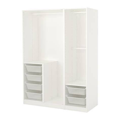 Wardrobes Fittings by Pax Wardrobe White 150x58x201 Cm