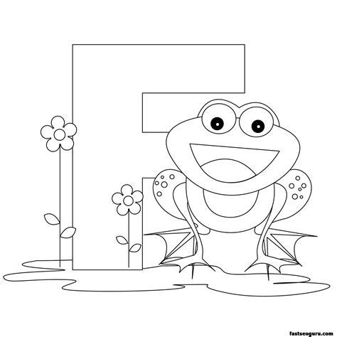 Letter F Coloring Pages For Preschoolers printable animal alphabet worksheets letter f for frog
