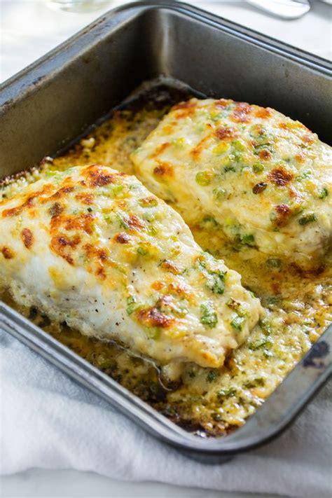 garlic parmesan baked halibut recipe on the side