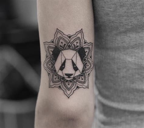 tattoo panda geometric these are possibly the cutest animal tattoos ever 54