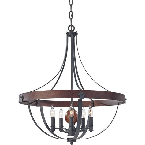 Acorn Chandelier Feiss Alston 5 Light Charcoal Brick Acorn 1 Tier Chandelier F2794 5af Cba The Home Depot