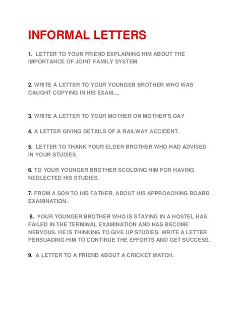 Official Letter Topics Formal Letter Writing Topics For Grade 7 Formal Letter Template