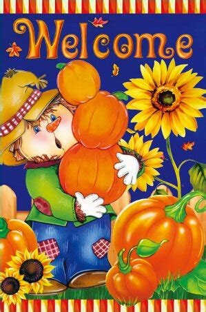 double sided house flags harvest fall scarecrow double sided house flag domestic divas coupons