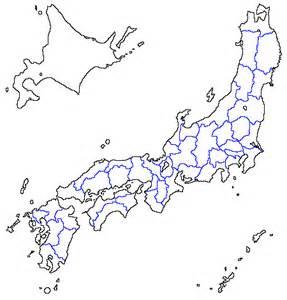 Japan Map Blank Outline by K Sbookshelf ソフトと素材 日本白地図1