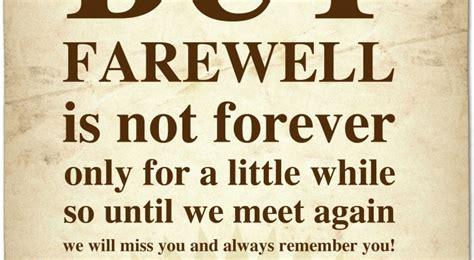 Farewell Thank You Card