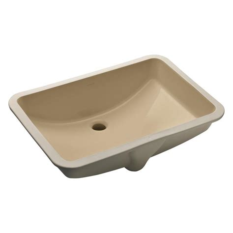 bathroom sinks kohler rectangle undermount bathroom sinks bathroom sinks