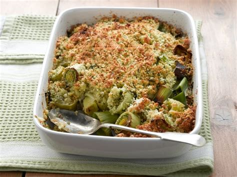 Crumbly Side Leek Cheese Crumble by Recipes Vegetarian For
