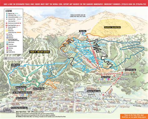 breckenridge map breckenridge downhill biking trail map