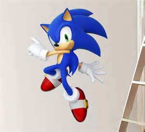 Sonic Wall Stickers Sonic The Hedgehog Decal Removable Wall Sticker Home Decor