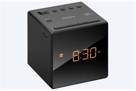 sony icf  black fmam cube clock radio single alarm ebay