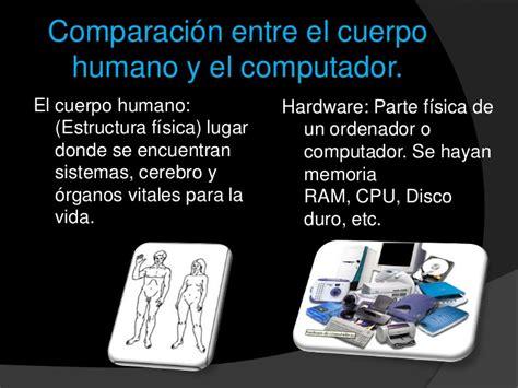 la historia y el ser humano comparaci 243 n entre el cuerpo humano y la computadora