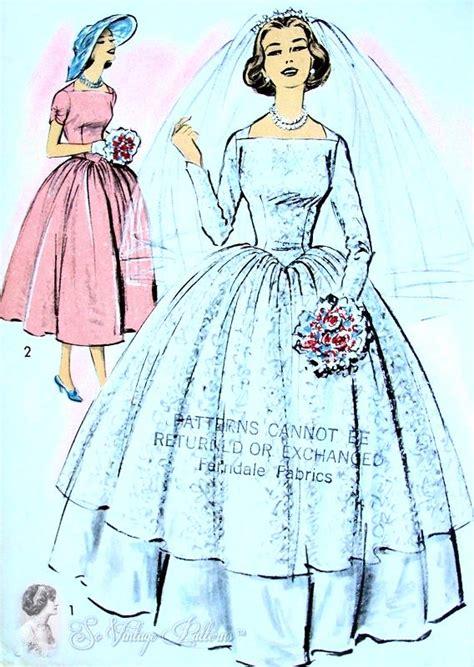 dress pattern v back 1950s beautiful brides overdress and slip dress pattern