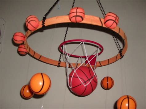 Basketball Decor by Basketball Room Decor Hanging Mobile By