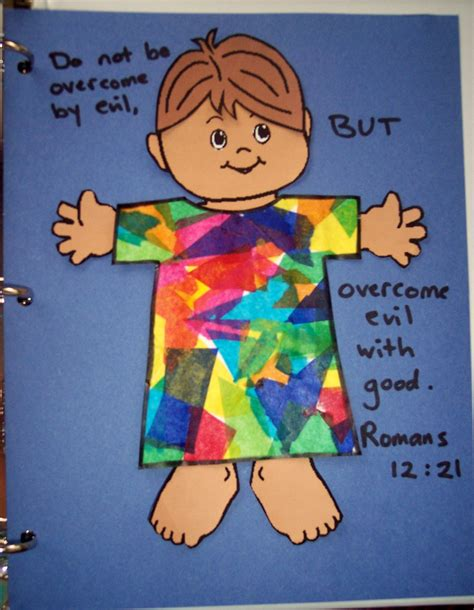 bible story crafts for joseph s colorful coat his treasure seekers