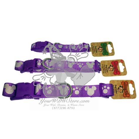 disney collar your wdw store disney tails collar reflective icons purple